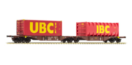 H0 | ACME 40291-Touax-Ekol,  Containerwagen Sggmrss '90