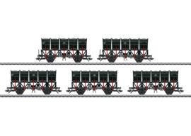 H0 | Märklin 46356 - Set kiepbakken wagens Ommi 51