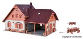 H0 | Vollmer 43744 - Boerenhuis met kleine aanbouwloods