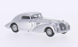 H0 | BoS-Models 87090 - Mercedes 540 K stroomlijnwagen, zilver, 1938