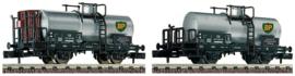 N | Fleischmann 881906 - DB, 2 delige set tank wagons