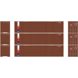H0 | Athearn ATH29191 - 40' Rib Container w/Flat Panel, TransAm (3)