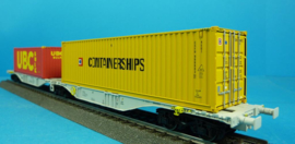 H0 | ACME 90038 -ERS, Containerwagen Sggmrss '90