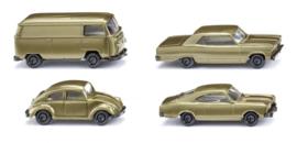 "N | Wiking 091006 - Set van 3 personenwagens en 1 bestelbus ""50 jaar N spoor"""
