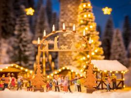 H0 | NOCH 14391 - Kerstmarkt entreeboog