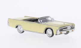 H0 | Ricko 38322 - Lincoln Continental Convertible, lichtgeel, 1963