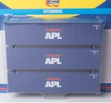 H0   Athearn ATH28370 - Container 3 Pack 40' – APL