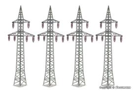 H0   Kibri 38533 - Deco-set Power pole, 4 pieces