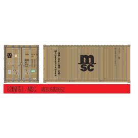 "H0   PT Trains 820015.1 - 20ft. Container ""MSC"" Eco"