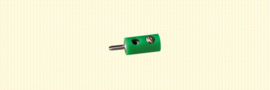Brawa 3053 - stekker Ø 2.5mm groen (10 stuks)
