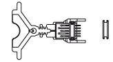 Piko 57520-33 - Koppeling, elektrisch (pins) wagen A