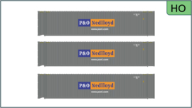 H0 | Atlas 20005736 - 45' Containers, P&O Nedlloyd (3 Pack)