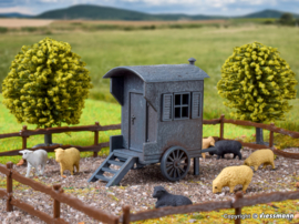 H0   Vollmer 43742 - Shepherd carriage and sheep flock