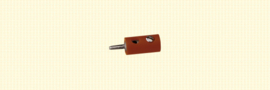 Brawa 3054 - stekker Ø 2.5mm bruin (10 stuks)