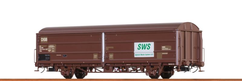 """H0   Brawa 48977 - DSB, Schuifwandwagen HBIS """"SWS"""""""