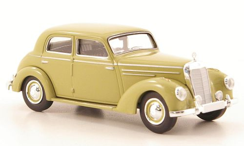 H0   Brekina Starmada 13054 - Mercedes 220 (W187), dark beige, without cardboard slipcase