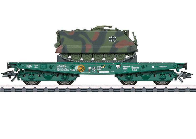 H0 | Märklin 48874 - DB AG, Platte wagen voor zware belasting Rlmmps