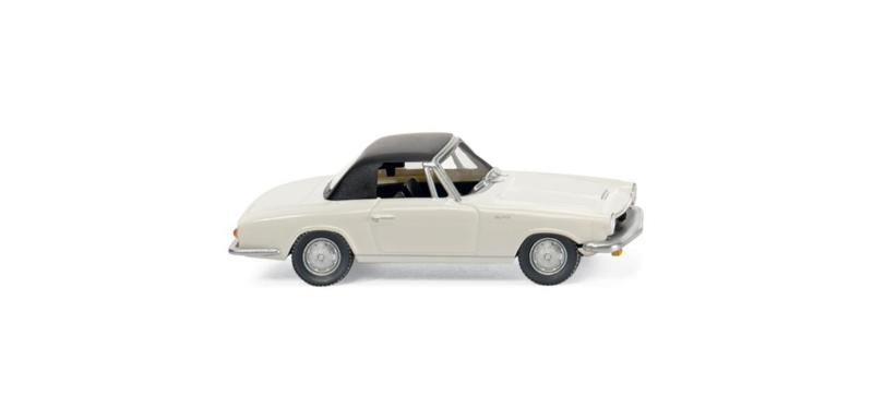 H0 | Wiking 018699 - Glas 1700 GT Cabrio, wit (1)