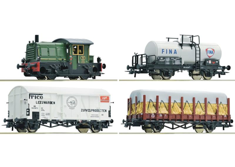 H0 | Roco 61429 - NS 352 met goederentrein (DC)