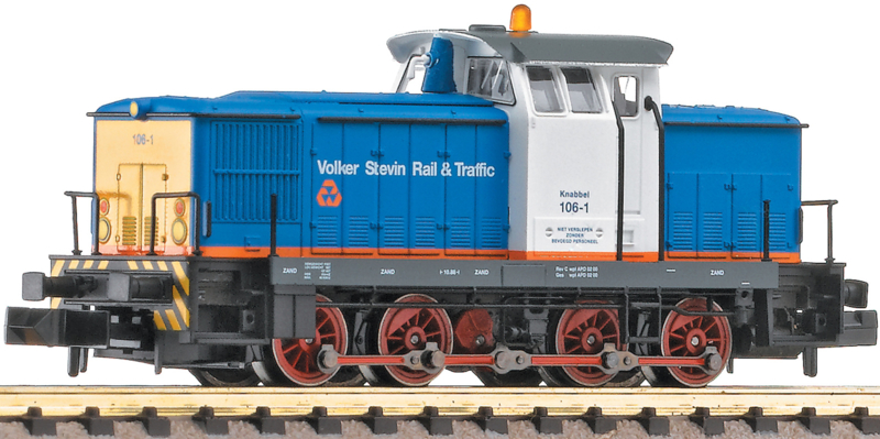 "N | Fleischmann 722010 - VolkerRail, Diesellocomotief 106-1 ""Knabbel"""