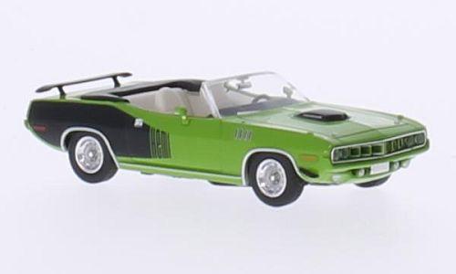 H0 | Ricko 38083 - Plymouth HEMI Cuda Convertible, groen/Decor, 1971