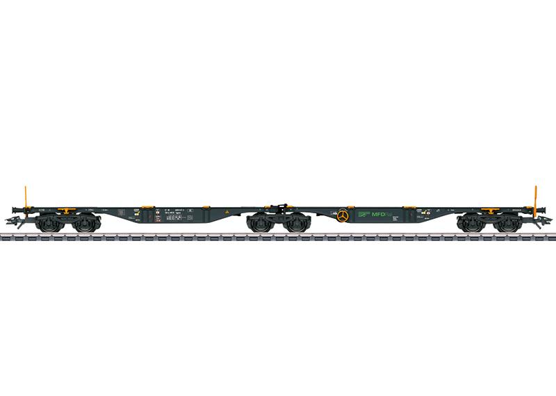 H0   Märklin 47813 - MFD Rail, Dubbele containerwagen type Sggrss