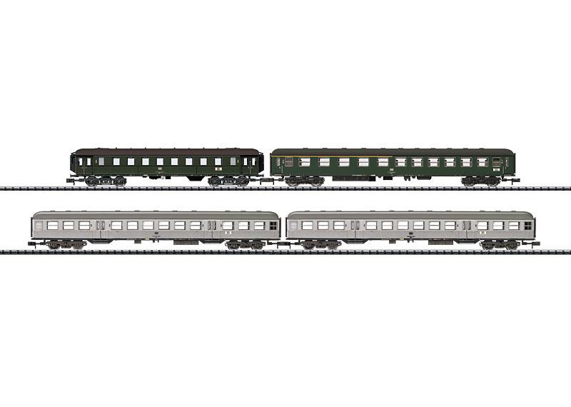 N | Minitrix 15471 - DB set sneltreinrijtuigen