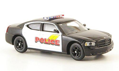 H0 | Ricko 38268 - Dodge Charger, zwart/wit, Police, (USA)