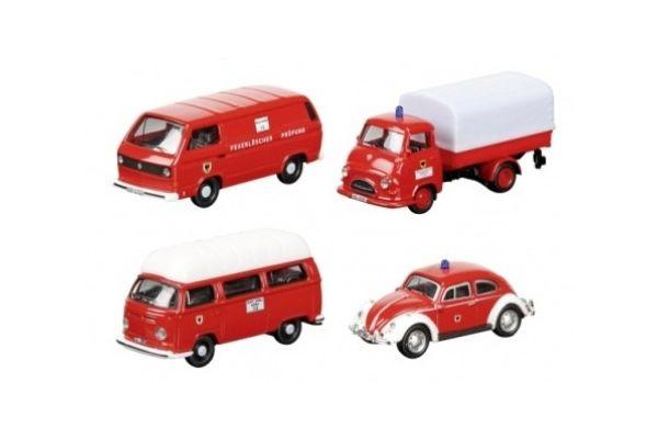H0   Schuco 25901 - Set brandweer Dortmund, 4-delig