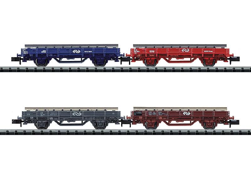 N | Minitrix 15628 - NS spoorbouwwagens