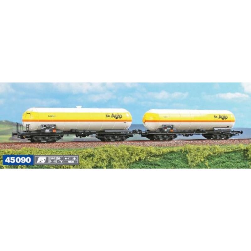 H0 | ACME 45090 - FS, 2-delige set gastankwagens van AGIP