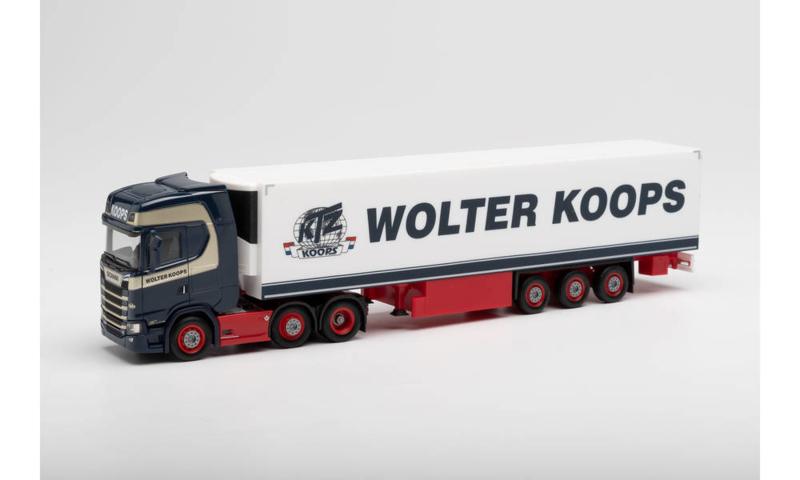"H0 | Herpa 312547 - Scania CS 20 HD 6x2 koeloplegger ""Wolter Koops"""