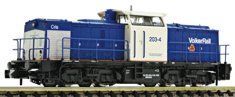 N | Fleischmann 721105 - VolkerRail, Diesellocomotief BR 203 (ex DR-BR V100)