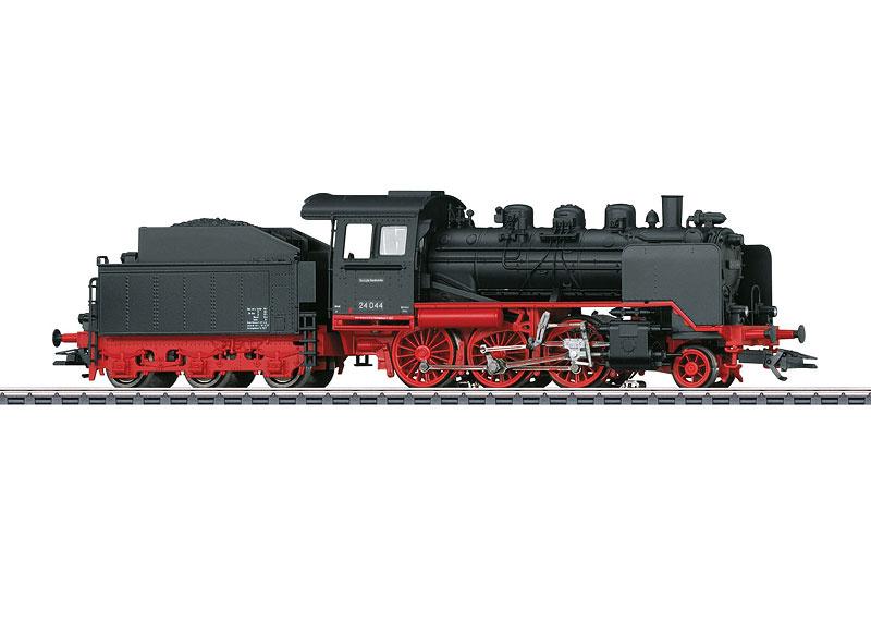 H0   Märklin 36244 - DB, Stoomlocomotief met sleeptender BR 24. (AC sound)