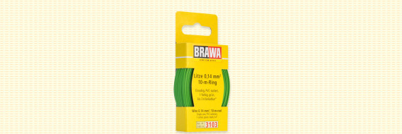 Brawa 3103 - Draad, 0,14 mm², 10mtr, groen