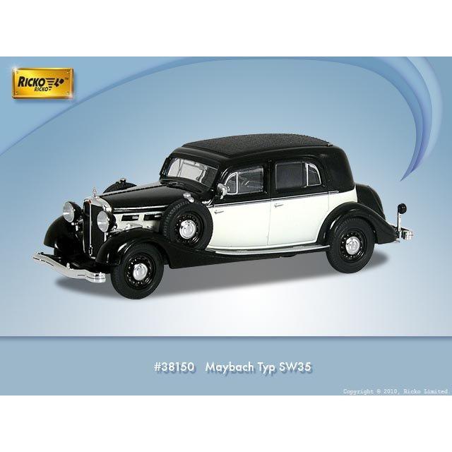 H0 | Ricko 38150 - Maybach Typ SW35, zwart/wit