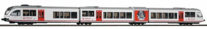 H0 | Piko 59532 -  Veolia, Dieseltreinstel GTW 2/8 Stadler (DC)