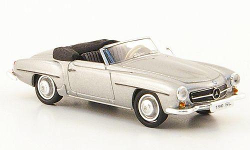 H0   Ricko 38393 - Mercedes 190 SL (W121 BII), zilver