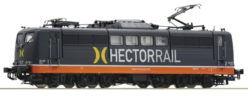 H0   Roco 73366 - Elektrische locomotief serie 162, Hectorrail (DC)