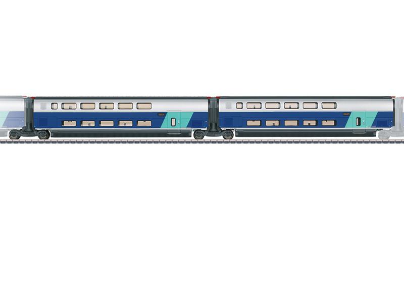H0   Märklin 43433 - SNCF, Set uitbreidingsrijtuigen 2 voor TGV Euroduplex
