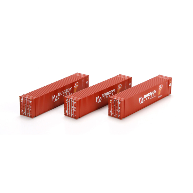 H0   Athearn ATH27777 - Container 3 Pack 45' – Horizon Lines