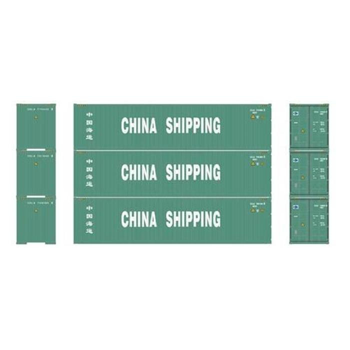 H0   Athearn ATH29178 - Container 3 Pack 40' – China Shipping
