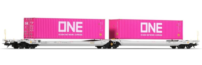 H0 | Esu 36542 - AAE, containerwagen Sdggmrs, ONE