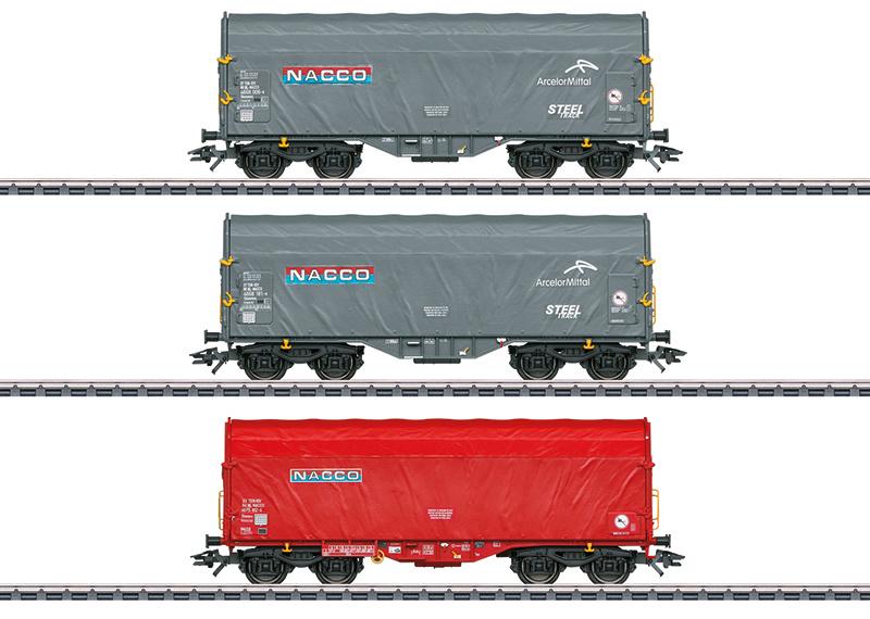 H0 | Märklin 47224 - Nacco, Set schuifhuifwagens