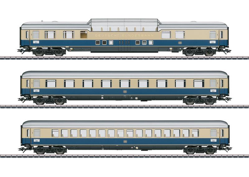 "H0   Märklin 43881 - DB, Set sneltreinrijtuigen 1 ""Rheinpfeil 1963"""