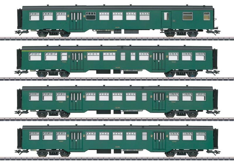 H0   Märklin 43546 - NMBS, Personenwagen-Set M2