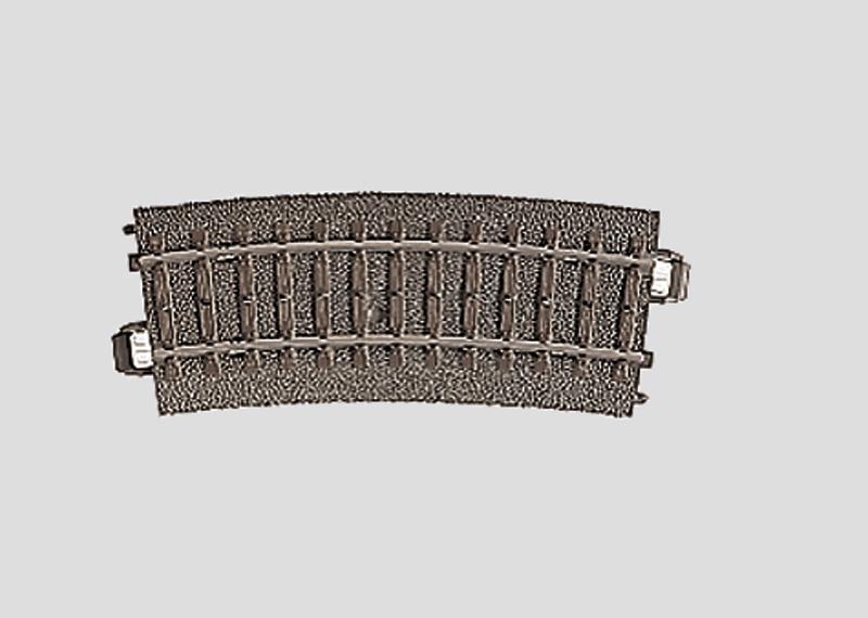H0   Märklin 24115 - Gebogen railstuk R360 mm - 15Gr  (C-rail)