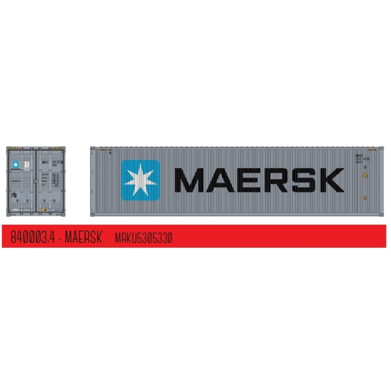 """H0   PT Trains 840003.4 - 40ft. Highcube Container """"Maersk"""""""