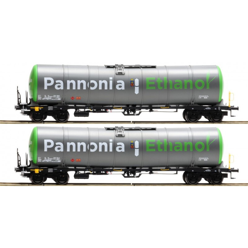 H0 | Igra 96110006/2 - 2 delige set tankwagens Zacns 98 Wascosa / Pannonia 1