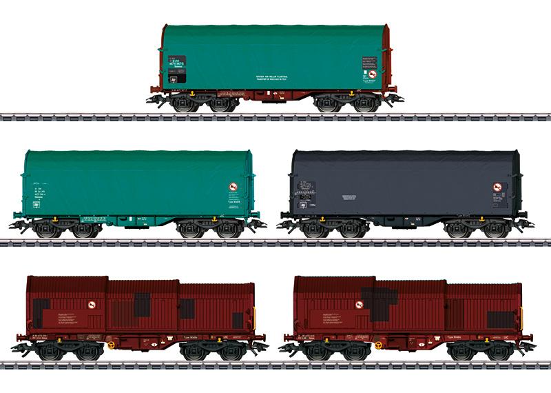 H0   Märklin 46875 - NMBS, Set goederenwagens